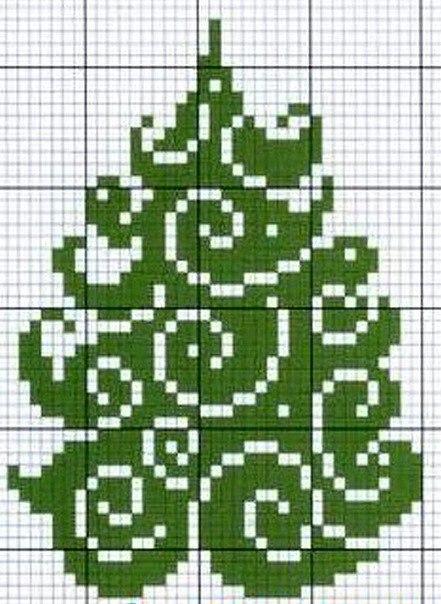 Новогодние схемы прямого плетения