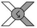 Изображение узла фриволите вправо на схемах