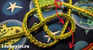 Плетение фенечек узлами макраме