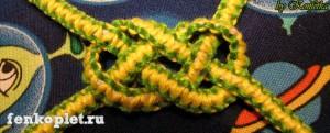 Плетение узлов макраме на фенечке