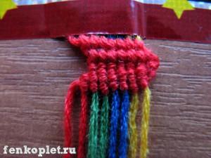 Урок плетения фенечки-лесенки
