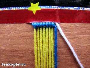 Плетение двумя ведущими нитями