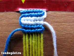 Фенечка с двумя ведущими нитями