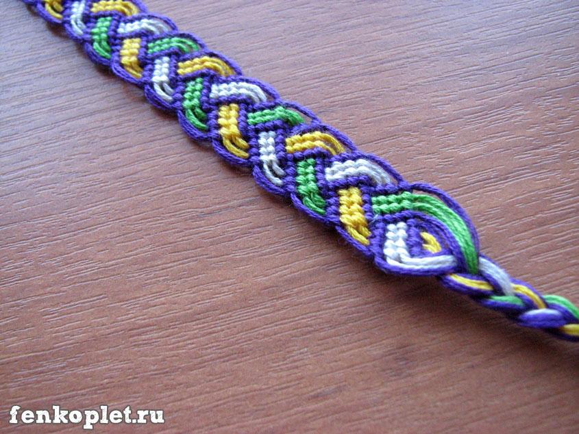 Плетение фенечки-косички