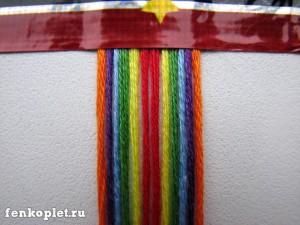 Плетение ромбами