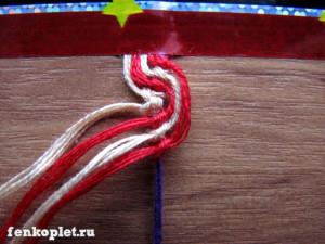 Новогодняя фенечка волна