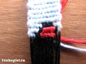 Прямое плетение в несколько цветов