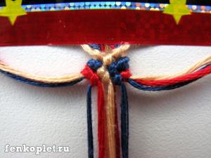 Как начать фенечку конфеткой