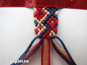Как закончить фенечку конфеткой