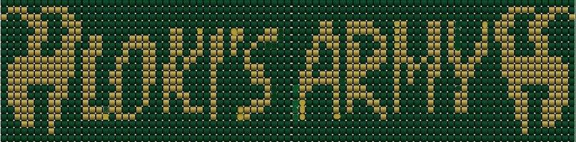 Схема прямого плетения Локи