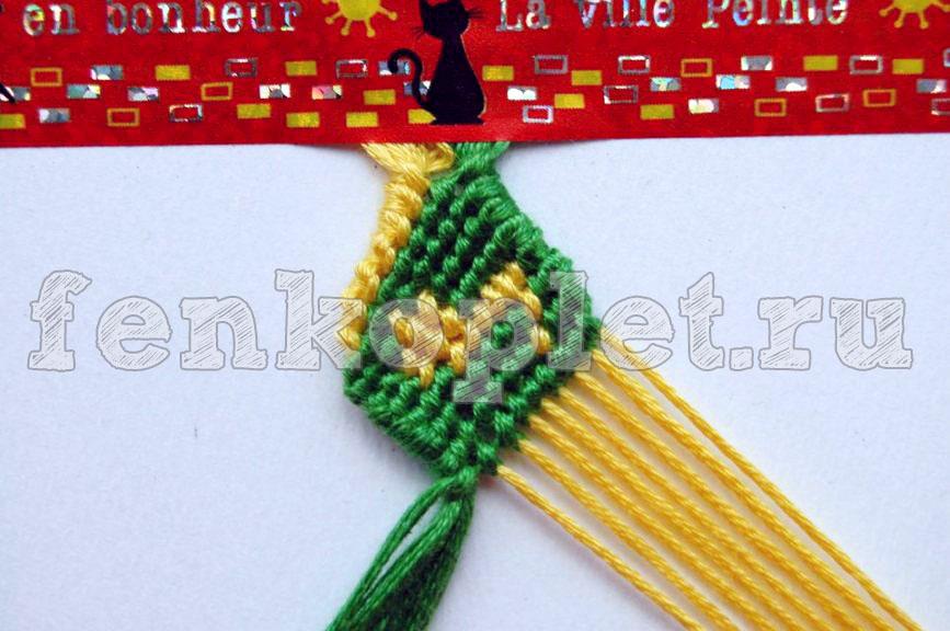 Урок плетения двойной конфетки