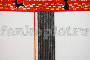 Как начать фенечку прямого плетения конфеткой