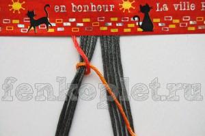 Как начать прямое плетение конфеткой