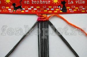 Как начать конфеткой прямое плетение