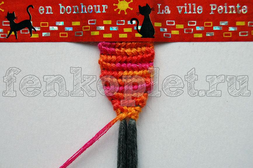 Как начать фенечки прямым плетением