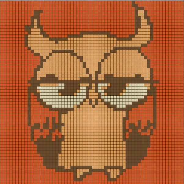 Схема прямого плетения совунья