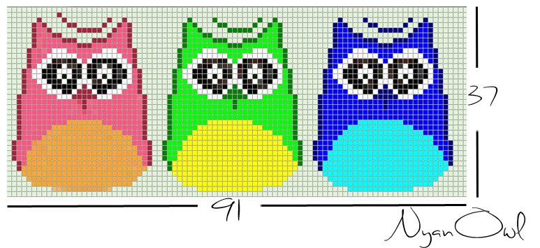 Схема прямого плетения три