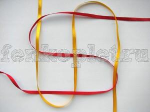 Плетение квадратиком из лент