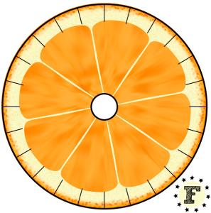 Шаблон станка кумихимо Апельсин