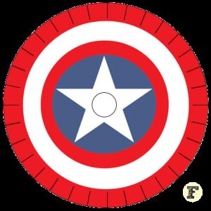 Шаблон станка кумихимо Щит Капитана Америки 16 нитей