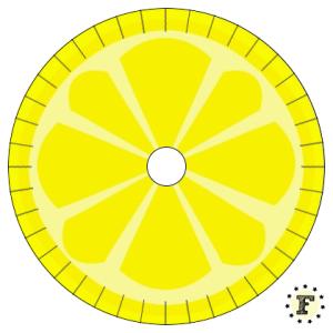 Шаблон станка кумихимо Лимон 20 нитей