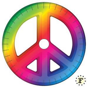 Шаблон станка кумихимо Peace Мир 20 нитей
