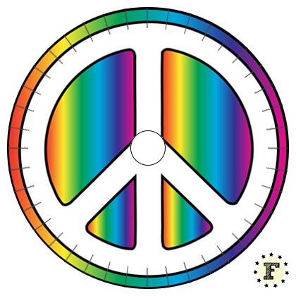 Шаблон станка для кумихимо Peace Мир 20 нитей