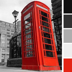 Палитра красная телефонная будка