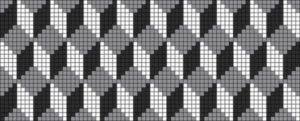Схема фенечки 3д кубики