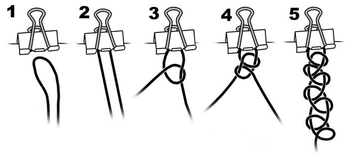 Схема плетения Тату-чокера из лески