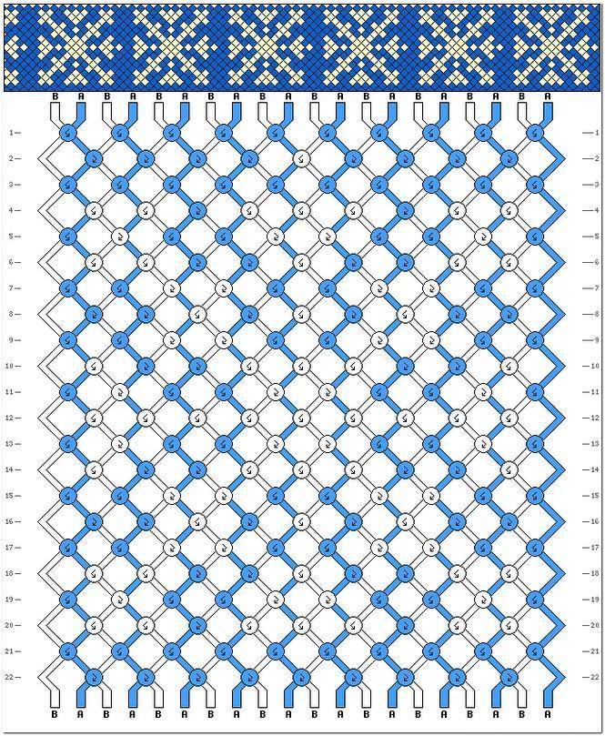 Новогодние схемы косого плетения