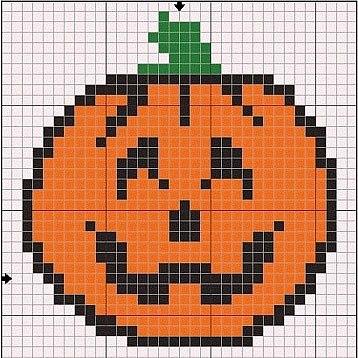 Схемы прямого плетения Хеллоуин