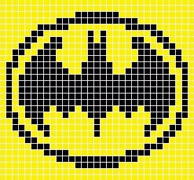 Схема прямого плетения Бэтмен