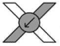 Изображение левого узла на схеме фенечки