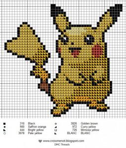Схемы плетения покемона Пикачу