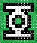 Схема прямого плетения Зелёный фонарь