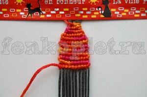 Прямое плетение конфеткой