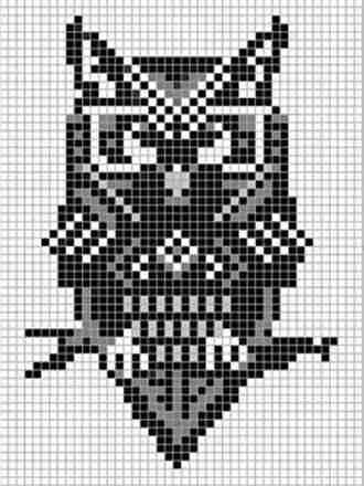 Необычные схемы плетения совы