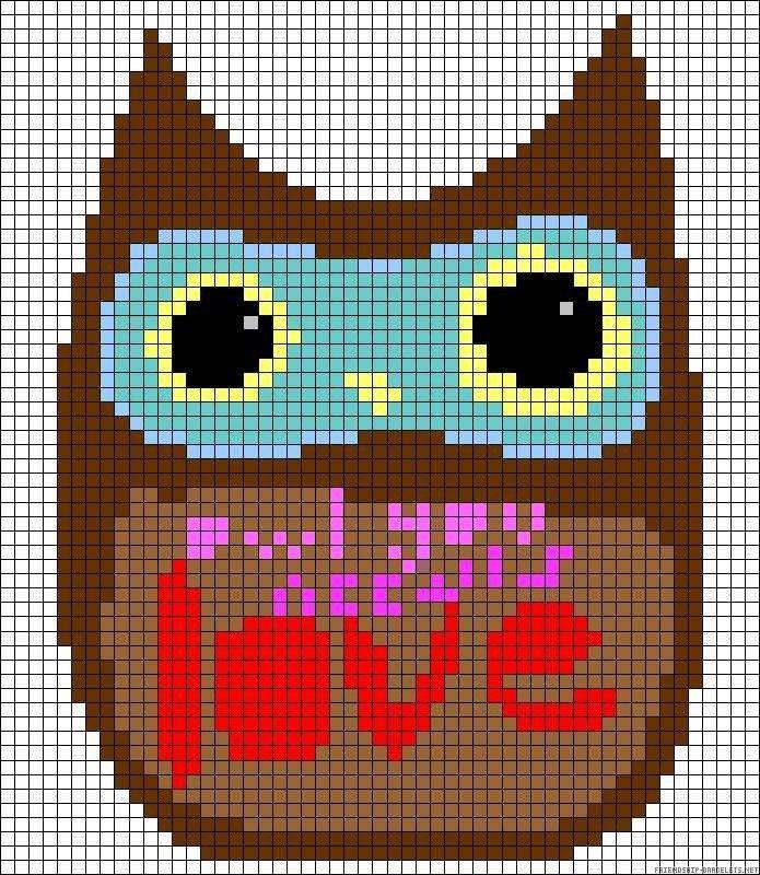 Схема фенечки owl you need is love