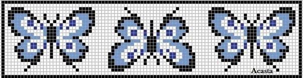 Схемы прямого плетения к 8 марта