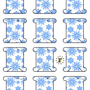 Бобины снежинки