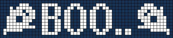 Схема прямого плетения Boo с привидениями