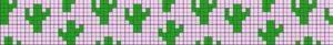 Кактусы прямым плетением